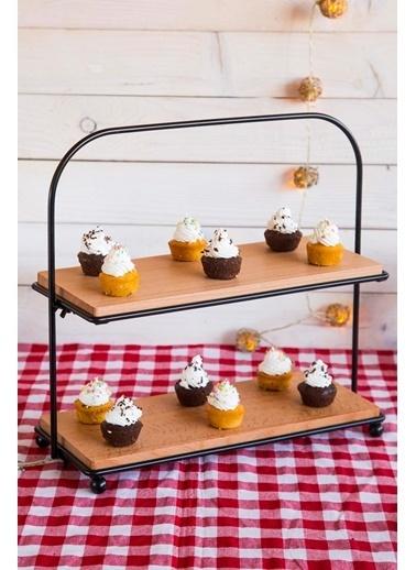 Joy Kitchen  Pastry 2 Katlı Dikdörtgen Ahşap Servis Renkli